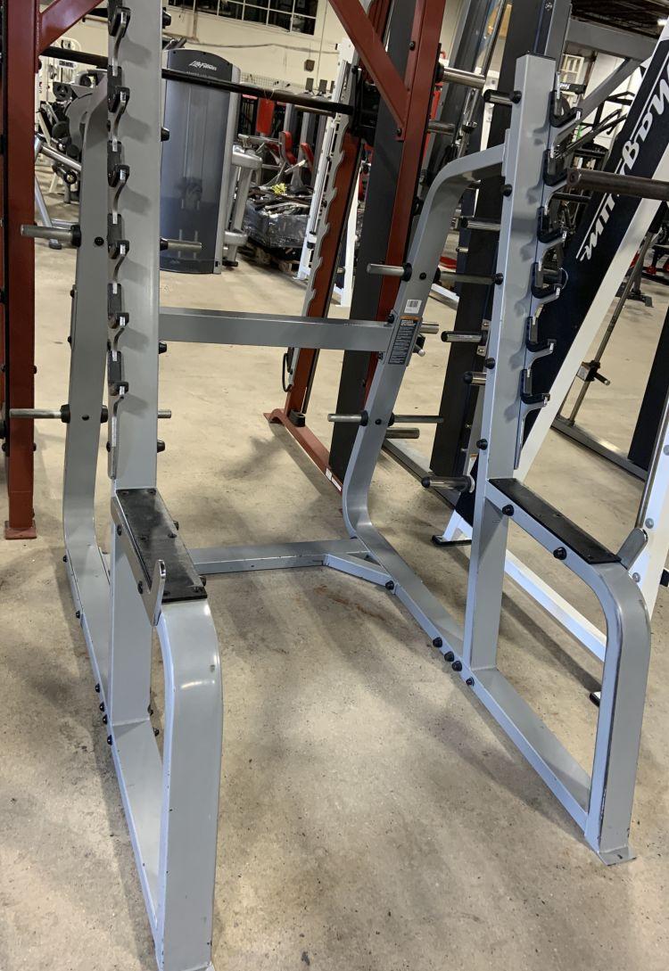 Used Squat Rack >> Precor Icarian Olympic Squat Rack Used