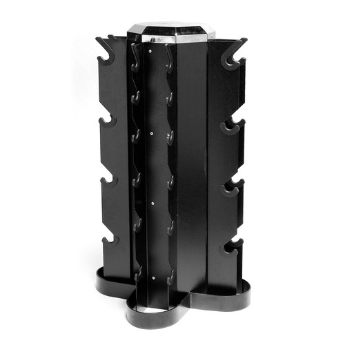 CAP 4 Sided Dumbbells Rack - Black