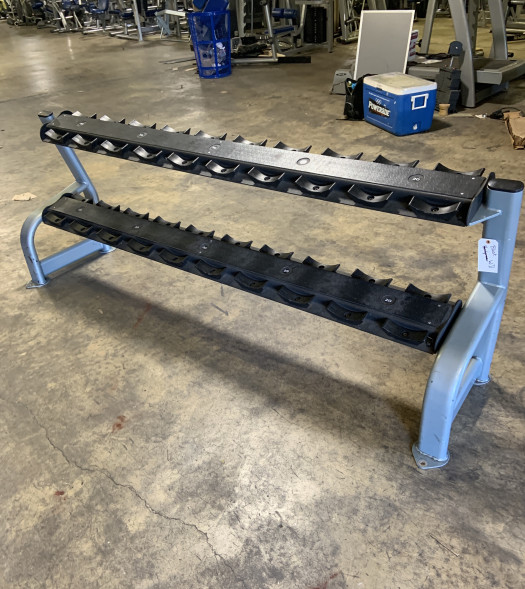 2 Tier Dumbbell Rack with Saddles (Used)