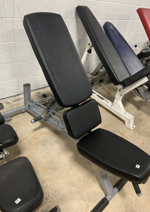 Life Fitness Commercial Adjustable Bench (Used)