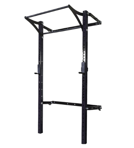 3x3 Profile Rack Pro with Kipping Bar - 96 in uprights- Black Onyx